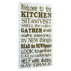 The Kitchen Sign