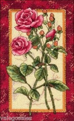 Dimensions Gold Counted #crossstitch  Rose Splendor #DIY #crafts #decor #needlework #crossstitching #gift #flowers