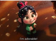 """""""...And I'm a Winner!!! ... """"And everyone loves an adorable winner!!!"""" ... """"Yeah!"""" Wreck it Ralph"""