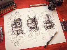 Steampunk logos by Mike | Creative Mints (Prague, Czech Republic)