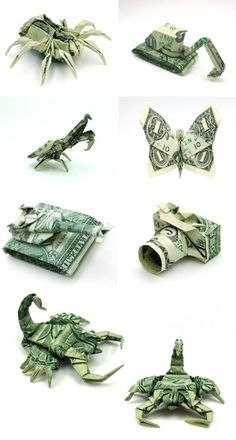 Just a picture of the these origami's,  no instructions but so cool