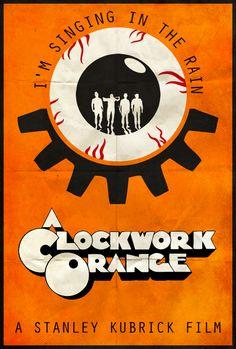 A Clockwork Orange - Alt. Minimalist Poster by Edwin Julian Moran II