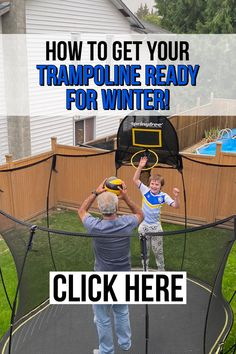Looking for tips to get your trampoline ready for winter? Click here to read this guide! Backyard trampoline | kids trampoline | trampoline in winter | how to winterize a trampoline | #trampoline Spring Free Trampoline, Springless Trampoline, Toddler Trampoline, Trampoline Springs, Rebounder Trampoline, Trampoline Workout, Trampolines For Sale, Rebounding