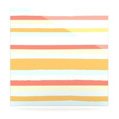 "Nika Martinez ""Sand Stripes"" Luxe Square Panel"