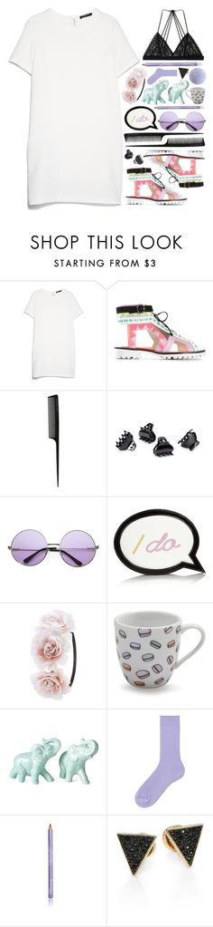 """""""Young, Wild and Free"""" by allamess ❤ liked on Polyvore featuring MANGO, Sophia Webster, GHD, H&M, INDIE HAIR, Charlotte Russe, Sur La Table, Uniqlo, Rimmel and Michael Kors"""