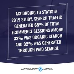According to #Statista 📃 2019 study, #SearchTraffic generated 65% of total #eCommerce 🛒 sessions among 33% was #Organic 🔍 and 32% was generated through #Paid search 💰. So use your money wisely. 🚀 For more such advise consult our #experts 👨💻 now: Ecommerce, Study, Organic, Money, Search, Research, Studio, Searching, E Commerce