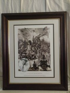 A Nation Remembers (WW II) Ray Simon Signed print 16x20 Matted & Framed #Realism