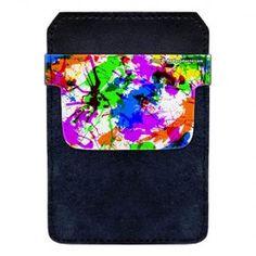DekoPokit™ Leather Bottle Opener Pocket Protector w/ Designer Flap - Paint Splatter