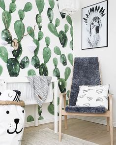 @tellkiddo on Instagram - Anewall cactus wallpaper More