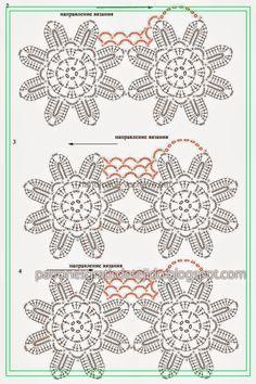 Blusa corta con transparencias y espalda descubierta tejida con ganchillo - con patrones