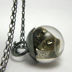 Resin and Pyrite Necklace