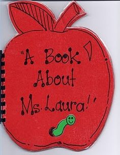 All About Me Teacher Book Idea from my blog! :)