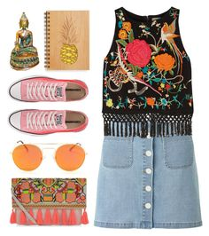"""Traveling"" by lover-of-pie ❤ liked on Polyvore featuring New Look, Converse, Miss Selfridge and Alice + Olivia"