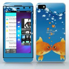 Goldfish Love  Kissing fish in bottle  phone skin sticker for Cell Phones / Blackberry Z10 | $7.95