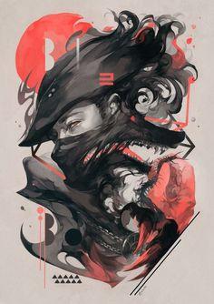Birds of a feather арт, Игры, Bloodborne Fantasy Kunst, Fantasy Art, Anime Kunst, Anime Art, Bloodborne Art, Desu Desu, Dark Souls Art, Arte Obscura, Bild Tattoos