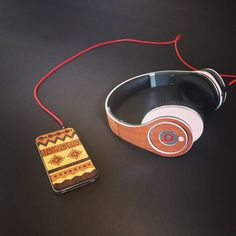 New #tribal pattern wood skin!  #PhoneCase #BeatsByDre