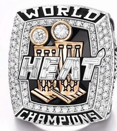Miami Heat 2013 NBA Championship ring (top view)