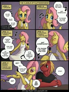 The 5 Levels of Fluttershy. Why do I find this so funny?!