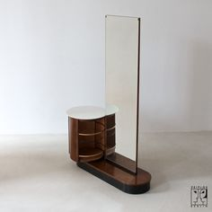 Dressing table by Jindrich Halabala, Czech Modernism, Spojene UP Zavody, Brno, Jindrich Halabala - Zeitlos Berlin (Coat Racks Art Deco Furniture, Vintage Furniture, Home Furniture, Furniture Design, Simple Dressing Table Designs, Streamline Moderne, Dining Room Table, Bauhaus, Indoor