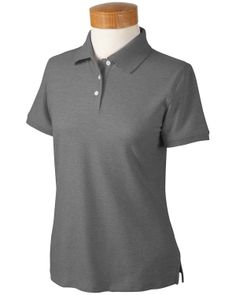 Ladies Recycled Polo | Buy cheap ladies recycled pima melange pique polo at Gotapparel.com.