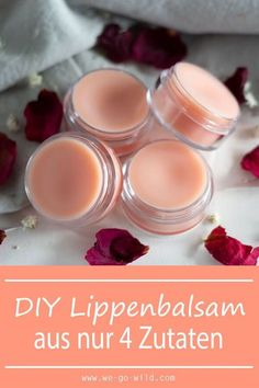 Make lip balm yourself in just 10 minutes! - WE GO WILD-Lippenbalsam selber machen in nur 10 Minuten! – WE GO WILD Making lip balm yourself is so easy! You only need 4 ingredients! Get started now and do your DIY lip care yourself! Diy Beauté, Natural Make Up, Lip Care, The Balm, Diy And Crafts, Beauty Hacks, Beauty Tips, Beauty Care, Diys