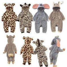 BABY TOODLER SNOWSUIT CLOTHING - VERY WARM ANIMAL BODYSUIT/ ROMPER (3-27M)