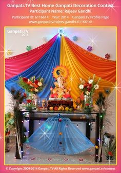 Nice Rajeev Gandhi Home Ganpati Picture 2014. View More Pictures And Videos Of Ganpati  Decoration At
