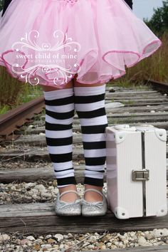 Black and White Striped Leg Warmers by PoshPipsqueak on Etsy, $8.95