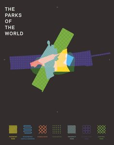 Mikell Fine Iles: The Parks of the World Infographics Information Design, Information Graphics, Travel Information, Parks, Public Space Design, Urban Park, Business Innovation, Sport Fitness, Animation