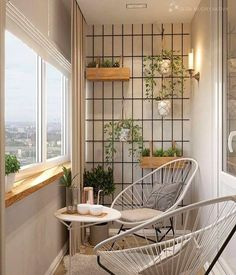 60 Small Apartment Balcony Garden Design Ideas - Favorite Place in the World - Balkon Small Balcony Decor, Small Balcony Garden, Small Balcony Design, Small Balconies, Balcony Ideas, Balcony Gardening, Bucket Gardening, Balcony Plants, Outdoor Balcony