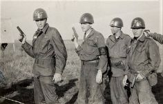 Target practice for Private Presley and fellow soldiers at Fort Hood,TX in 1958. Also see: https://entertainment.ha.com/itm/music-memorabilia/photos/elvis-presley-two-black-and-white-photos-a-color-photo-slide-and-bullet-casings-from-his-days-in-the-united-states-army-/a/7164-89416.s?ic4=GalleryView-Thumbnail-071515#