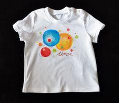 "Camiseta ""Planetas"" con nombre."