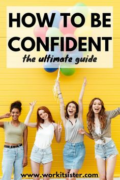 Step by Step Guide How to Be Confident Reach your goals now with the ultimate confidence boosters This guide is packed with confidence building tips that show you how to gain self confidence at work and life confidenceinyourself confidencewomen Building Self Confidence, Building Self Esteem, Confidence Boosters, Self Confidence Quotes, How To Gain Confidence, Self Development, Personal Development, Activities For Adults, Self Acceptance