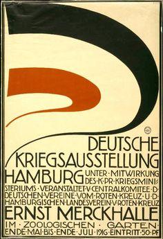 1916 German WWI exhibition poster via @thinkstudionyc