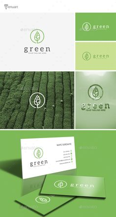 Green Logo - Nature Logo Templates Best Picture For child Nutrition For Your Taste You are looking for something, and it is going to tell you exactly what you are looking for, and you didn't find that Business Logo, Business Card Design, Logo Voyage, Creative Logo, Logo Branding, Branding Design, Tea Logo, Plant Logos, Church Logo