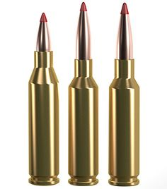 The most obvious comparisons to the 6 mm Creedmoor (center) are with its parent cartridge, the decade-old mm Creedmoor (r.), which, for many decades, has reigned as the world's most popular loading. Tactical Rifles, Firearms, Shooting Equipment, Sniper Training, Reloading Ammo, Bolt Action Rifle, Guns And Ammo, Weapons, Bullet