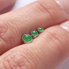 forward triple helix jade cabochon - jewelednavel
