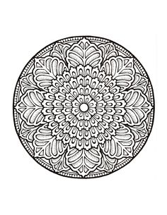 geometric coloring pages for adults printable | Download: PDF JPG ...