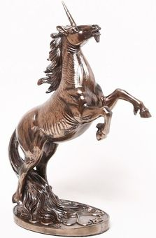 Bronze Unicorn Statue - by Medieval Collectibles Unicorn Tattoos, Fantasy Beasts, Wall Paint Colors, Medieval Clothing, Mythical Creatures, Larp, Archery, Faeries, Enchanted