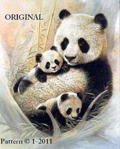 Diamond Painting Mother Panda and her Cubs Kit Niedlicher Panda, Cute Panda, Animals And Pets, Baby Animals, Cute Animals, Bear Pictures, Animal Pictures, Image Panda, Panda Lindo
