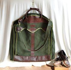 Vintage Mens Luggage Unisex Suit Garment Bag by ArmorOfModernMen, $129.95 #luggage #travel #unisex #mensstyle #mensfashion