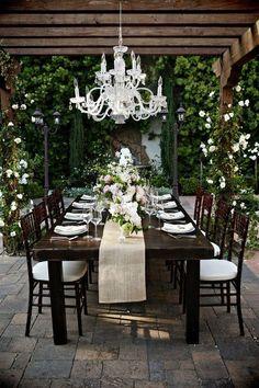backyard outdoor dining room