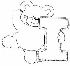 Moldes do Alfabeto de ursinhos- Patchwork e Pintura - Dicas pra Mamãe