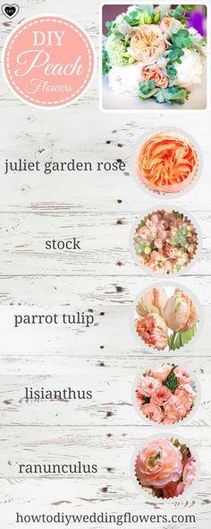 Wedding Trends 2018! Spring Peach flowers and DIY Wedding Flowers. #weddingtrend #springflowers #flowerarrangement #weddingdecorations #peachwedding #peachflowers