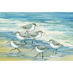 This beautiful artwork titled 'Surfside Sandpipers' by Paul Brent will bring a cultural touch to your home decor. Measuring 24x36, this artwork is available in 1 piece.