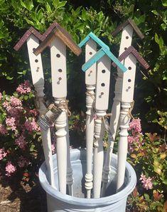 Birdhouse Garden Stakes Yard Art Garden Decor Large garden