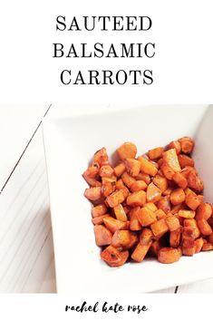 Sauteed balsamic carrots | carrot recipes | carrots | carrots side dish | side dishes | side dishes easy | side dishes for chicken | side dishes recipes | side dishes for steak | side dishes for fish | healthy dinner recipes | healthy recipes | healthy meals | healthy eating | vegetarian recipes | vegetarian meals | vegetarian recipes healthy | vegetarian recipes dinner | vegetarian recipes easy | vegan recipes | vegan | vegan dinner | vegan recipes easy | vegan meals Egg Free Recipes, Carrot Recipes, Dishes Recipes, Vegan Recipes Easy, Side Dish Recipes, Fall Recipes, Veggie Recipes, Side Dishes For Fish, Steak Side Dishes