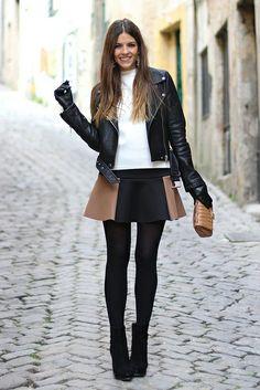 trendy_taste-look-outfit-street_style-fashion_spain-moda_españa-follie_follie-leather_jacket-chaqueta_cuero-falda_bicolor-black_booties-botines_negros-top_estructurado-zara-white_top-statement_gloves-guantes_pedrería-polaroid-9 by Trendy Taste, via Flickr