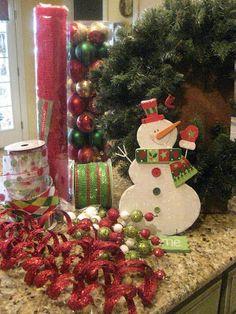 Creaciones de Kristen: Malla de Navidad de la guirnalda Tutorial!