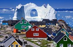 Floating Iceberg, Greenland photo via besttravelphotos (photoshop?...Nope, just Greenland)